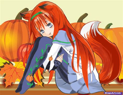 draw  anime halloween girl step  step anime