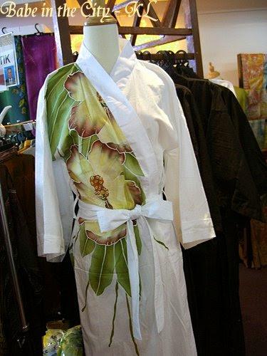 Modern batik robes