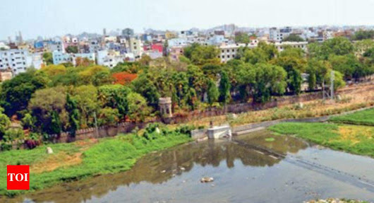 When Musi river had a 12-feet waterfall falling like a chadar... | Hyderabad News - Times of India