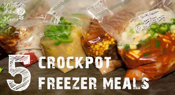 http://www.morelikehome.net/2013/06/5-crockpot-freezer-meals.html