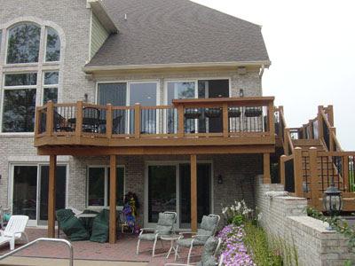 Basement Entrance Ideas Second Story Deck Designs Simple Deck Plans
