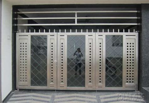 modern stainless steel auto gate design  closed home design