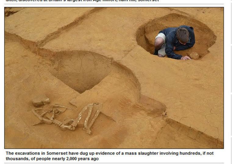 Isso porque encontraram restos de equipamentos militares típicos de Roma na região