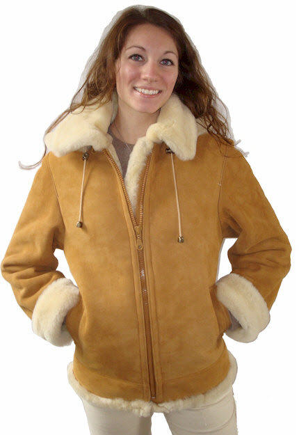 Ladies Shearling Coats: VillageShop.com