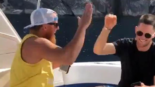 Justin Turner and Alex Wood were on boat when they got Manny Machado news
