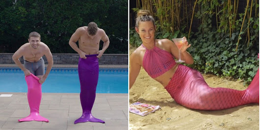 Watch Clueless Guys Epically Fail At This Mermaid Workout