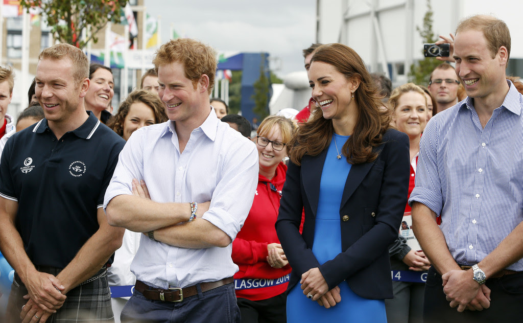 2 dzień Kate, Williama i Harry'ego na Commonwealth Games w Glasgow.
