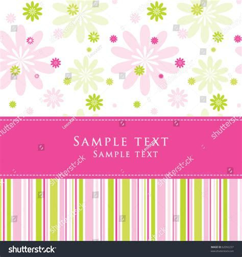 Cute Birthday Greeting Card Stylish Colorful Stock Vector