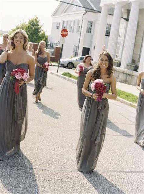 Wedding Theme   Dark Gray Bridesmaid Dresses #2067339