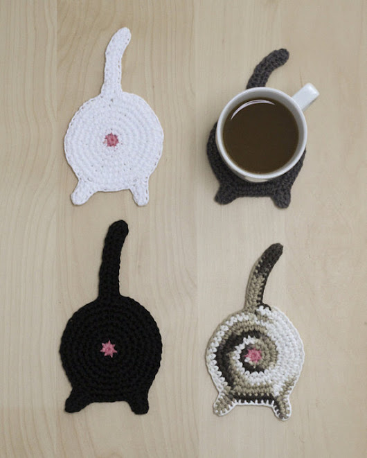 Cat Butt Coasters | Make: