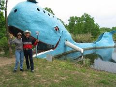 A random couple and a whale