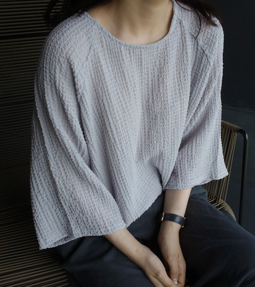 [Holicholic] Mingus Textured T-Shirt