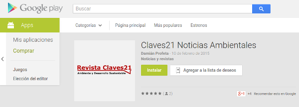 noticias ambientales Claves21 app android google play