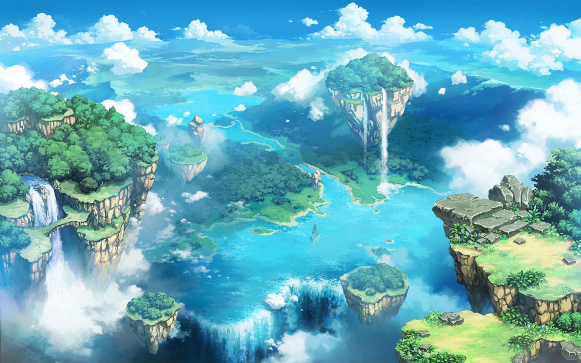 Anime Landscape Wallpaper HD   PixelsTalk.Net