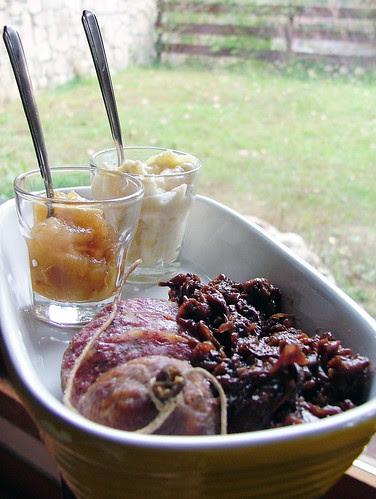 cotechino, apple radicchio, appleradish and mostarda veneta