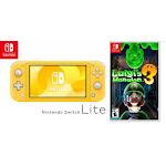 Nintendo Switch Lite - Yellow Bundled with Luigi's Mansion 3