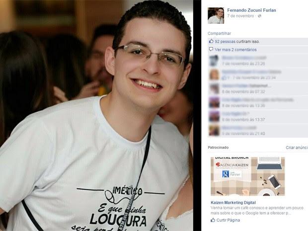 fernando furlan aluno medicina puc (Foto: Reprodução/Facebook)