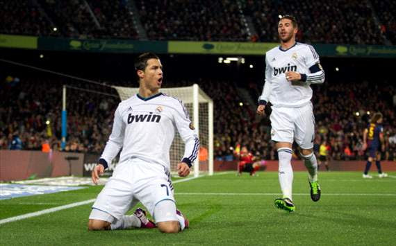 Ronaldo at the double as Madrid sink Barca