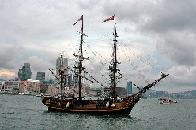 The Bounty replica is the only European tall ship that resides in Hong Kong