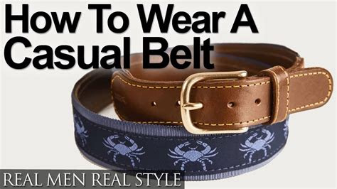 casual belt styles   wear  casual belt
