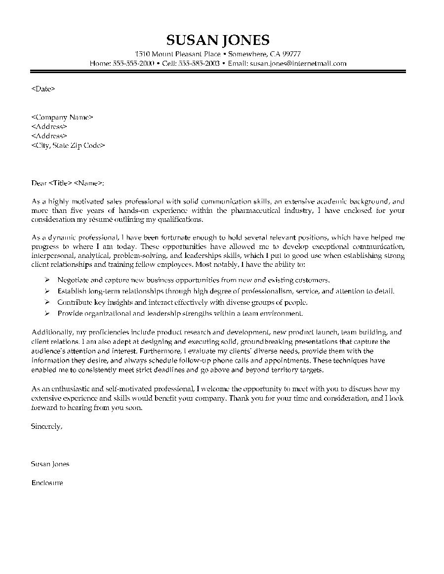 sample cover letter biotech