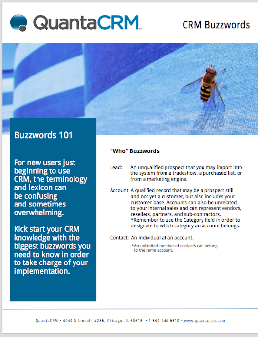 CRM Buzzwords White Paper - Learn the Words You Need