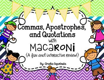 Commas, Apostrophes and Quotations with Macaroni
