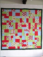 Going Snow Global quilt top