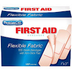 Fabric Bandage, 1 x 3-In. 100-Ct.