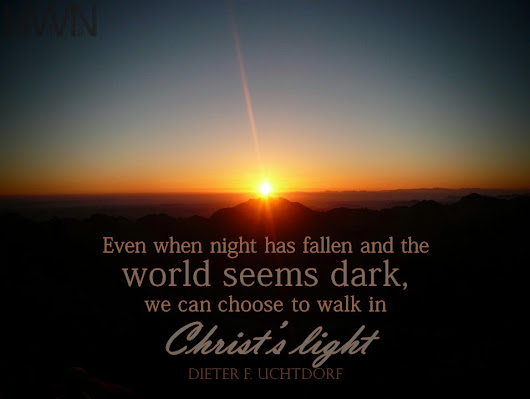 Walk in Christ's light