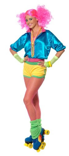 Skater Girl Costume Neon