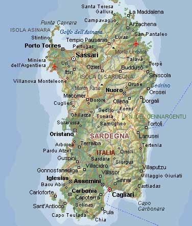 Cartina Fisica Sardegna Da Stampare.Corsica Cartina Geografica Dettagliata