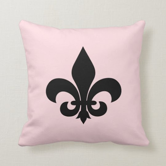 Paris Pink Fleur de Lis Throw Pillow