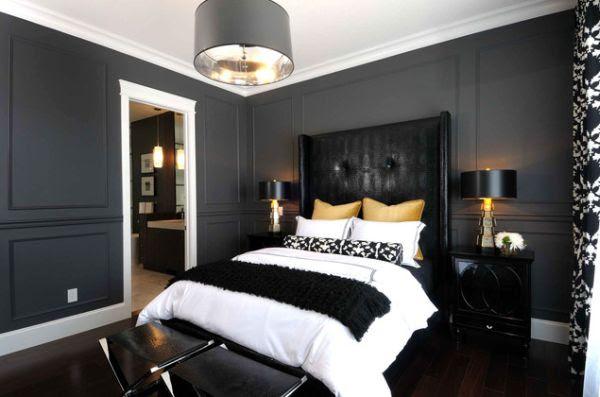 Black Bedroom Interior Designs – Dramatic Yet Elegant