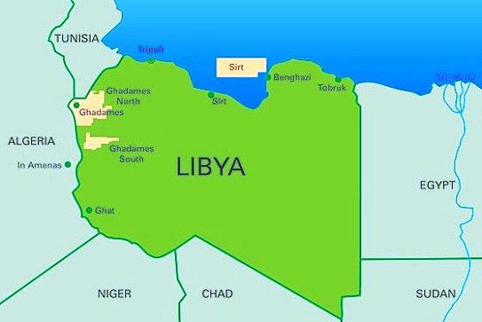 Image result for Image of libya map