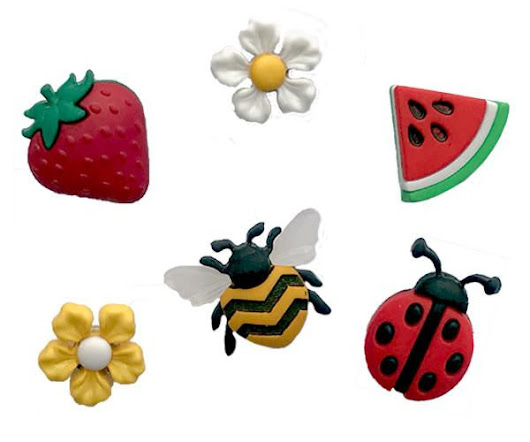 Summer Magnetic Wine Charms with Bee Ladybug Strawberry and Flowers – Simply Charmed