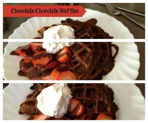 Chocolate Chocolate Waffles