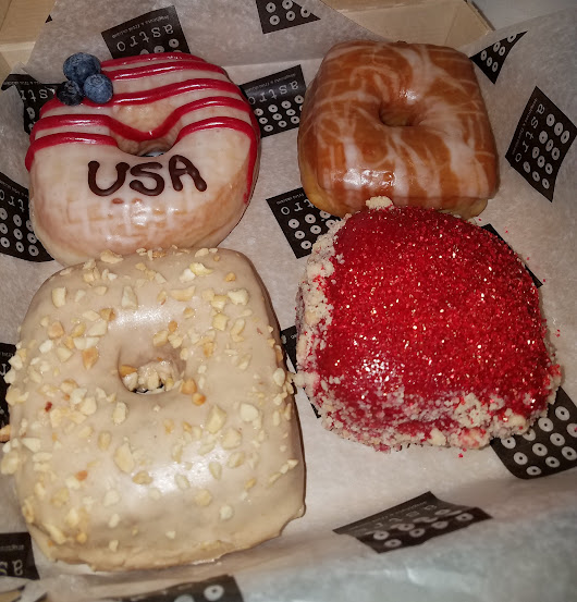 ASTRO DOUGHNUTS SERVES UP SOME UNIQUE CREATIONS LIKE CHERRY PIE AND ROOT BEER FLAVORED DONUTS
