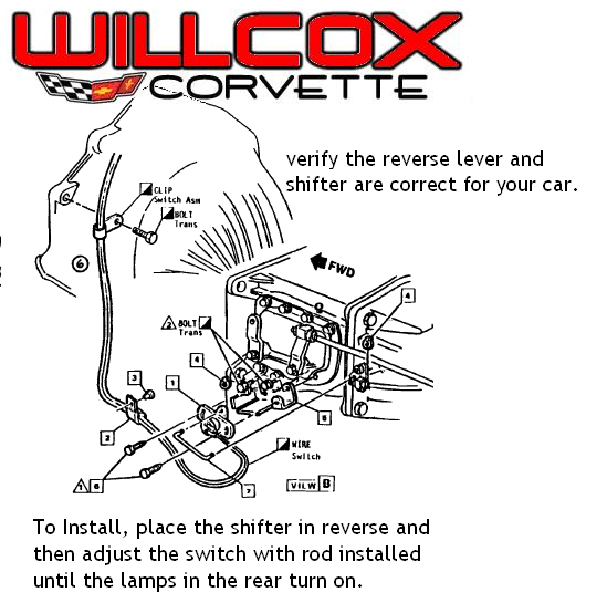 Corvette Back Up Lamp Switch Installation 1968 1981 Willcox Corvette Inc