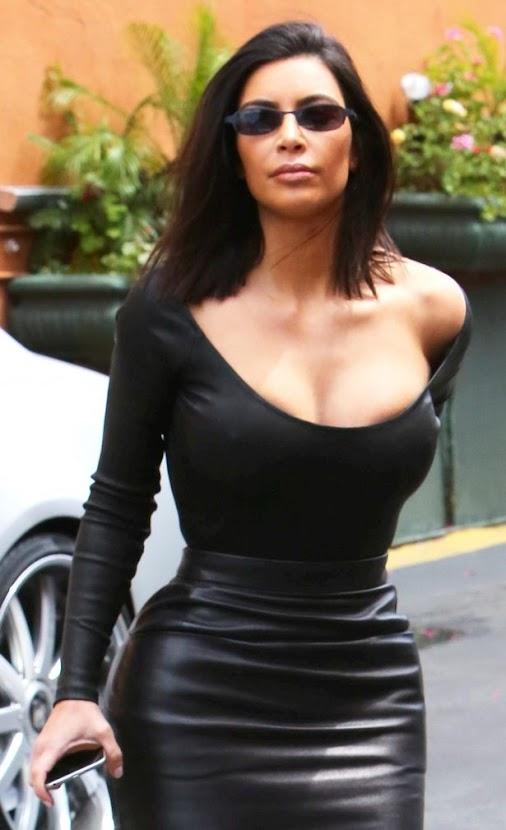 Kim Kardashian swaps up her style in sexy leather skirt for NY lunch date #kimkardashian #celebs #celebrity...