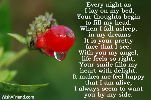 I Want You Romantic Poem