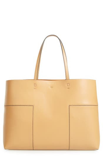 Tory Burch Block-T Leather Tote