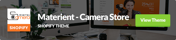 Materient Camera Store Shopify Theme