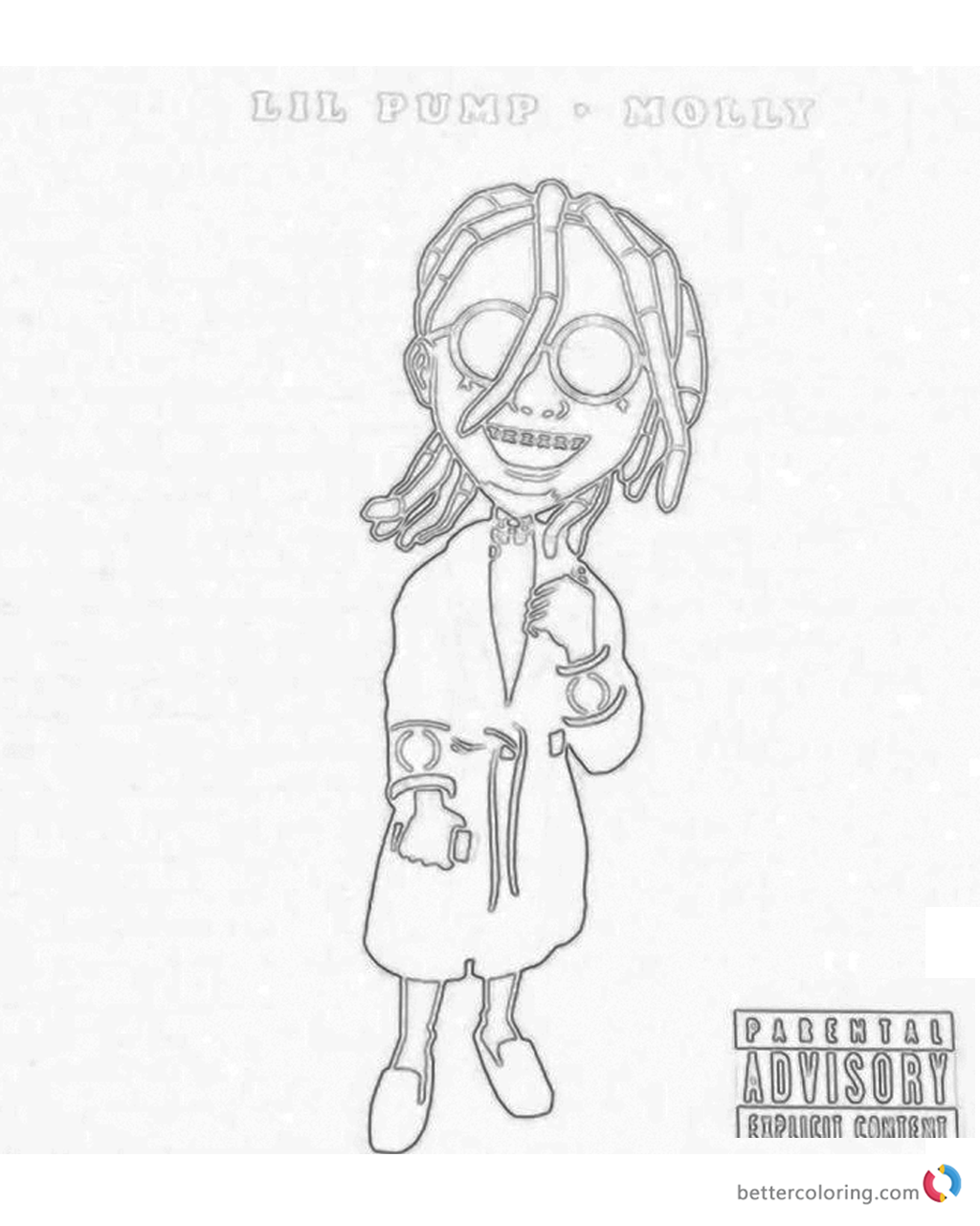 Lil Pump Coloring Pages Molly - Free Printable Coloring Pages