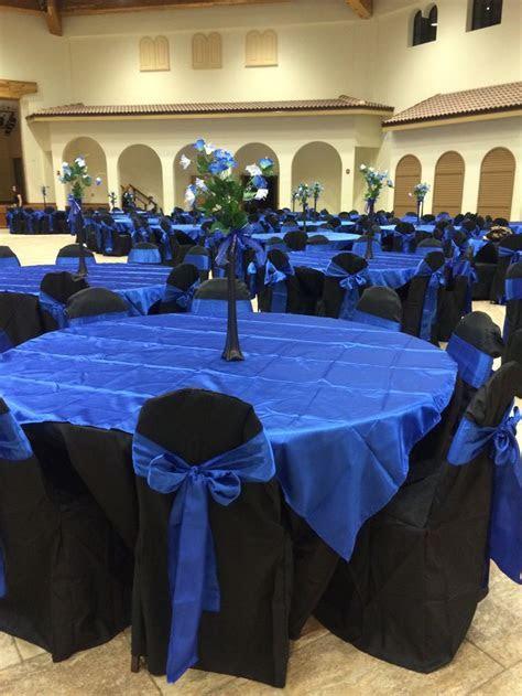 Jasmine Quinceanera hall décor royal blue black star theme