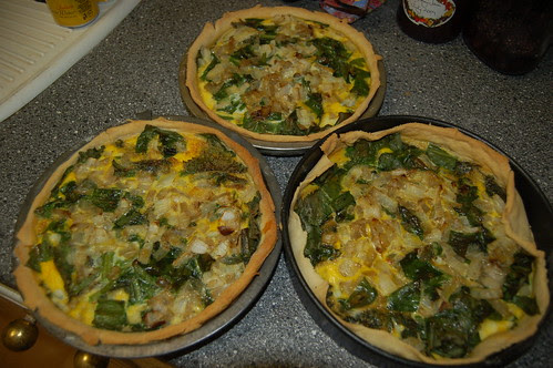 wild garlic and nettle flans May 12