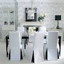 Dining Room: Stylish And Inviting Black And White Dining Room ...