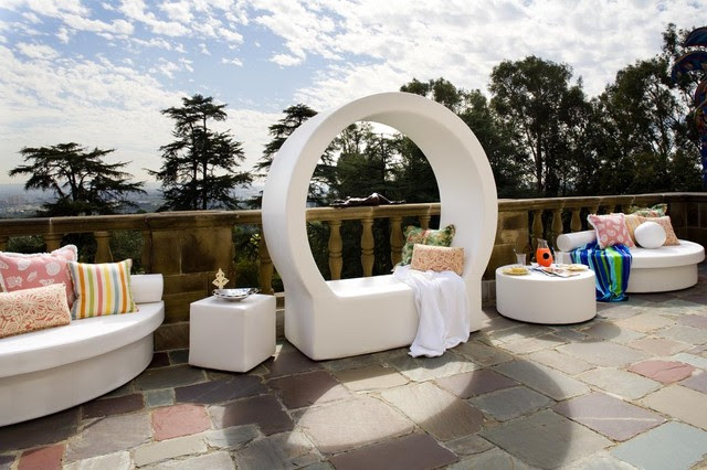 Pod Outdoor Circle Lounge by La Fete - modern - outdoor chaise ...