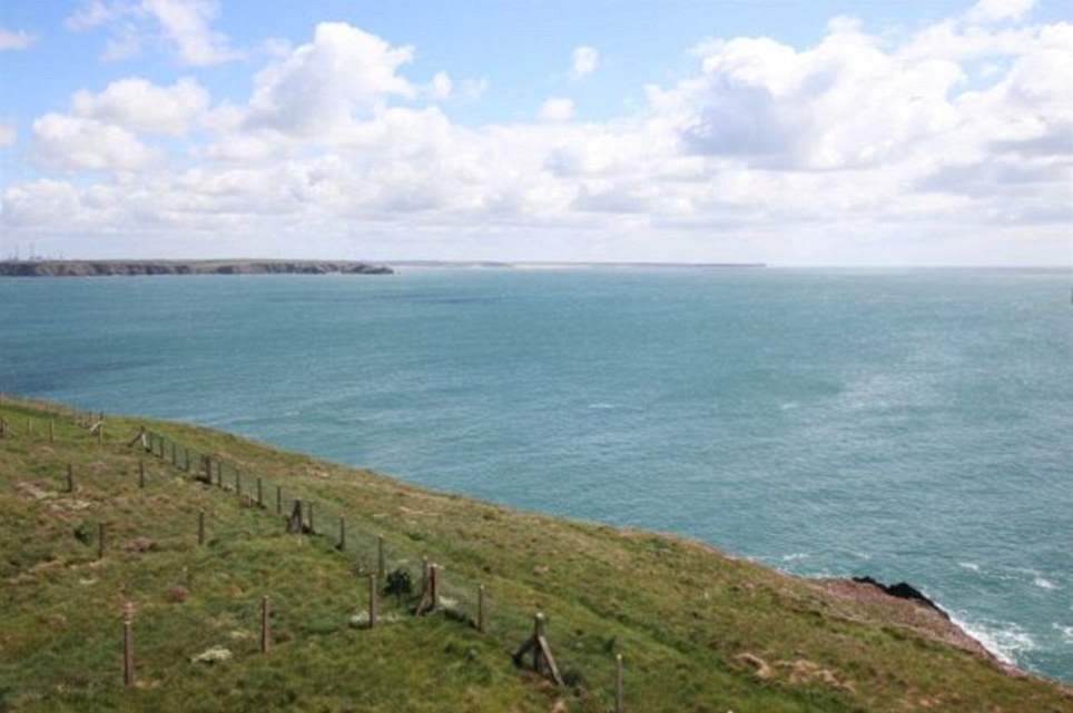 Spectacular: The row of five terraced properties virtually stand alone on the remote, but beautiful, stretch of coastline