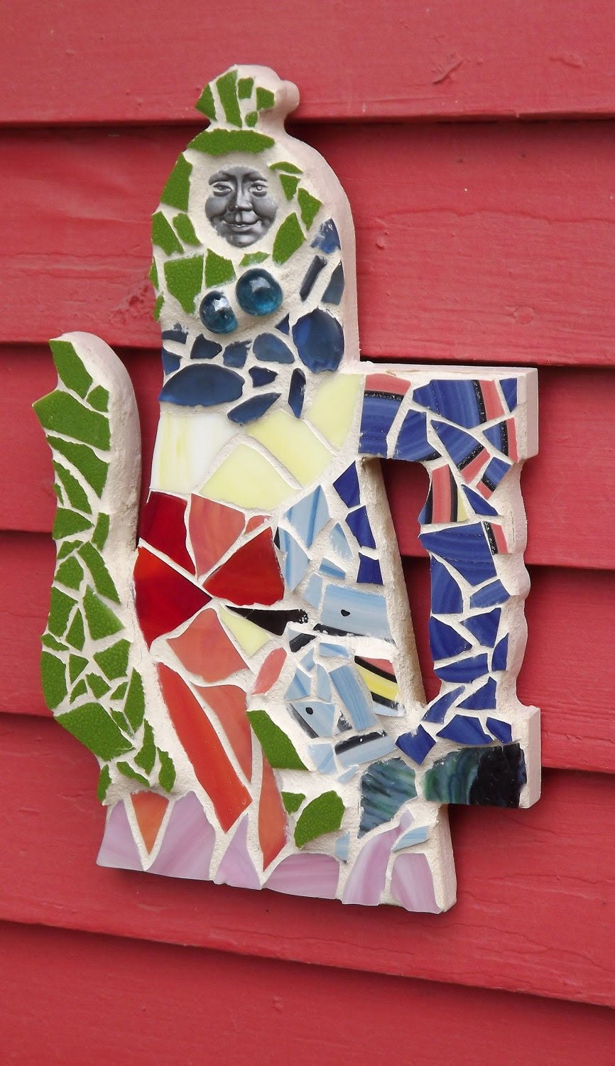 Stained glass mosaicTeapot wall hanging
